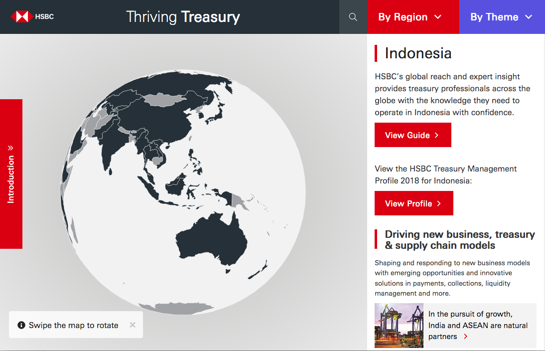 HSBC's interactive treasury map: a useful starting point