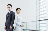 Asian business man and woman