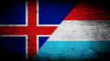 Iceland and Luxembourg flags