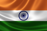 Indian flag rippling