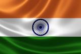 Indian flag rippling