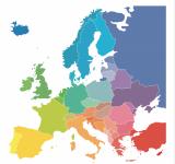 Europe colourful